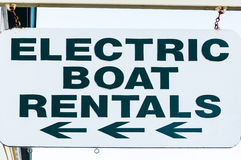 Electric boat rental Stock Images
