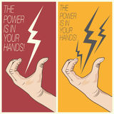 Electric Bolt In Man Hand Stock Photography