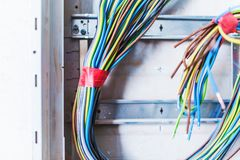 Electric Box Cables Royalty Free Stock Photos