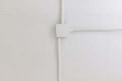 Electric Box. Electrical wire box on ceiling Royalty Free Stock Photos
