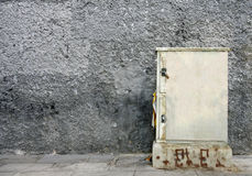 Electric box with pasted posters. Mockup to present posters on electrical box Stock Images