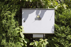 Electric box in the  wood Royalty Free Stock Photo