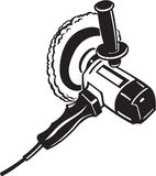 Electric Buffer Tool. Line Art Illustration of an Electric Buffer Tool Stock Photo