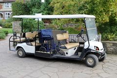 Electric buggy fully equipped for disabled people royalty free stock image
