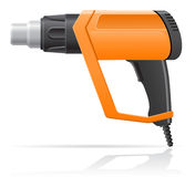 Electric building hot air dryer gun vector illustr Royalty Free Stock Photo