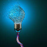 Electric bulb explosion Royalty Free Stock Images