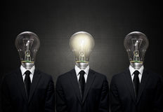 Electric bulb head Royalty Free Stock Photography