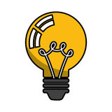 Electric bulb isolated icon Stock Photography