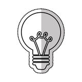 Electric bulb isolated icon Royalty Free Stock Photo