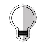 Electric bulb isolated icon Stock Photo