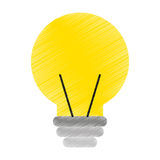 Electric bulb isolated icon Stock Image