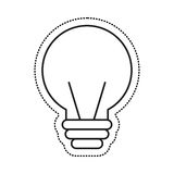 Electric bulb isolated icon Royalty Free Stock Images