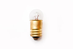 Electric bulb. On the white background stock image