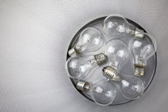 Electric Bulbs In The Dustbin Royalty Free Stock Images