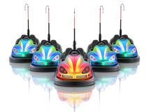 Electric bumper cars stock illustration