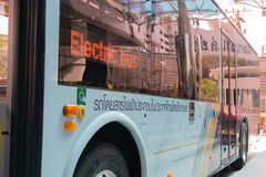 Electric bus in Thailand Stock Image
