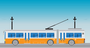 Electric bus and Trailer or Trolley bus Royalty Free Stock Photography