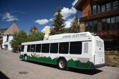 Electric bus in Vail, Colorado Stock Photo
