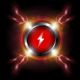 Electric button design Royalty Free Stock Photography