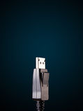 Electric cable with copy space Royalty Free Stock Photo