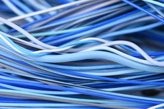 Electric cable network close-up. As background Royalty Free Stock Images