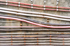 Electric cables Royalty Free Stock Image