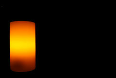 Electric Candle on black Stock Image