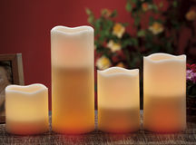 electric candles seems normal candles Stock Photos