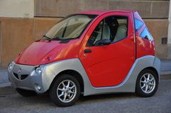 Electric car in Florence, Italy  Royalty Free Stock Photography