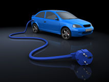 Electric car vector illustration