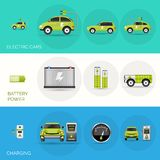 Electric Car Banners Stock Photo