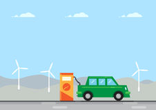 Electric Car Charge Royalty Free Stock Images