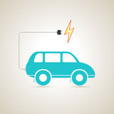 Electric car charger battery. Vector illustration. Electric car charger battery. Electro car. Vector illustration Royalty Free Stock Image