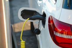 Electric car charger Royalty Free Stock Photo