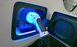 Electric car charger Stock Images