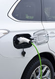 Electric Car. Charging battery of an electric car Royalty Free Stock Photo