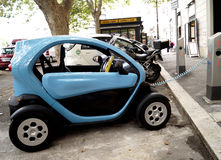 Twizy Electric car charging battery Royalty Free Stock Image