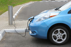 Electric Car Charging. Battery on service station Stock Images