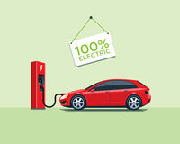 Electric Car Charging at the Charging Station Royalty Free Stock Images