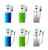 Electric car charging column set 1 Stock Image