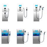 Electric car charging column set 2 Stock Image