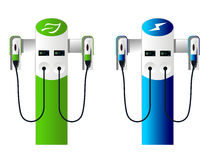 Electric car charging column set 4 Stock Photography