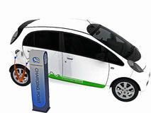Electric car Royalty Free Stock Photos