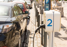 Electric car charging Stock Image