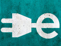 Electric car charging sign Royalty Free Stock Photo
