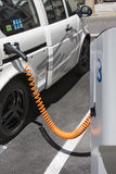Electric Car - Charging Station Royalty Free Stock Photos
