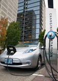 Electric car charging station Stock Image
