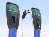 Electric car charging station. Concept. Clipping path available Stock Photography