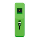Electric car charging station concept. EV recharging point or EV Royalty Free Stock Photos