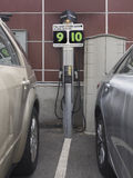 Electric car charging station Royalty Free Stock Images
